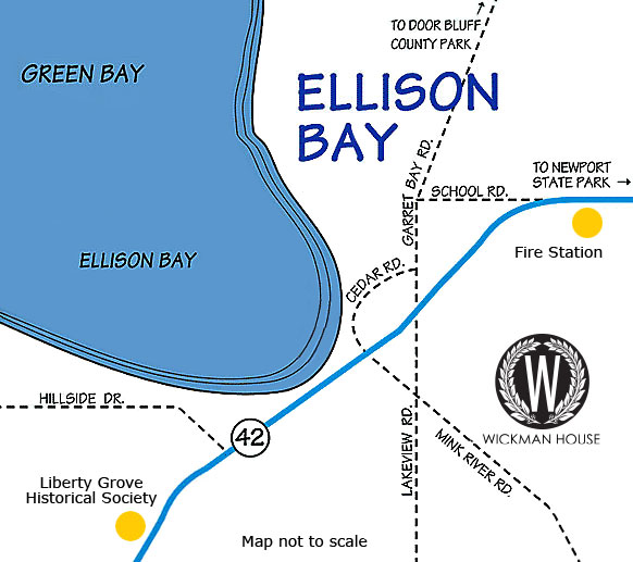 Ellison Bay, Door County Map